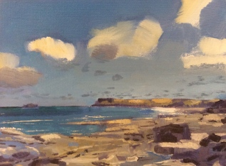 Windy Towards Polzeath, Selected for The Royal Society of Marine Painters Annual Exhibition2015