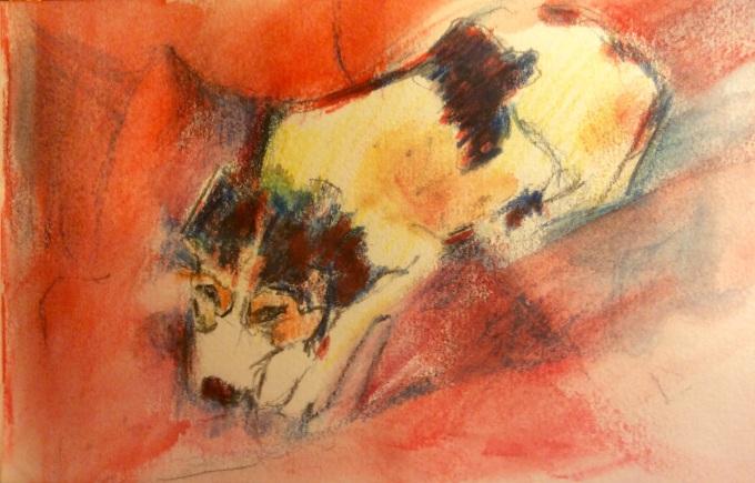 Watercolour, 10 x 5 cm