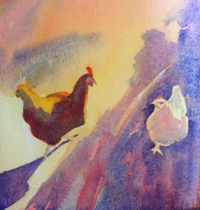 Watercolour, 15 x 11 cm.