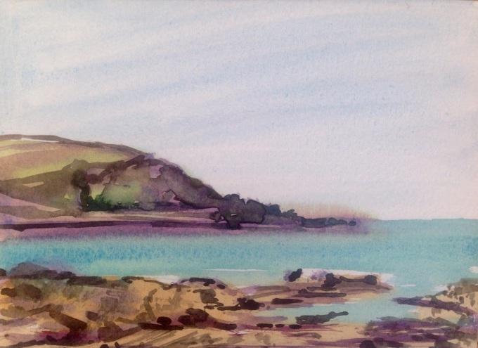 Gully, Watercolour, 18 x15 cm
