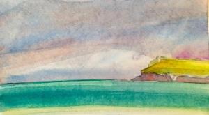 Afternoon, Polzeath Beach, Cornwall, 22 x 15 cm