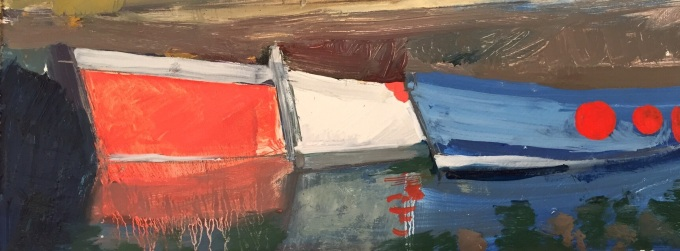 Oil sketch, Padstow, Oil on Board, 32 x 18cm