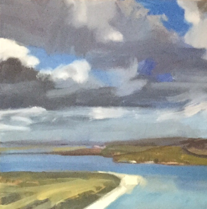Across to Padstow, Oil on Canvas, Detail