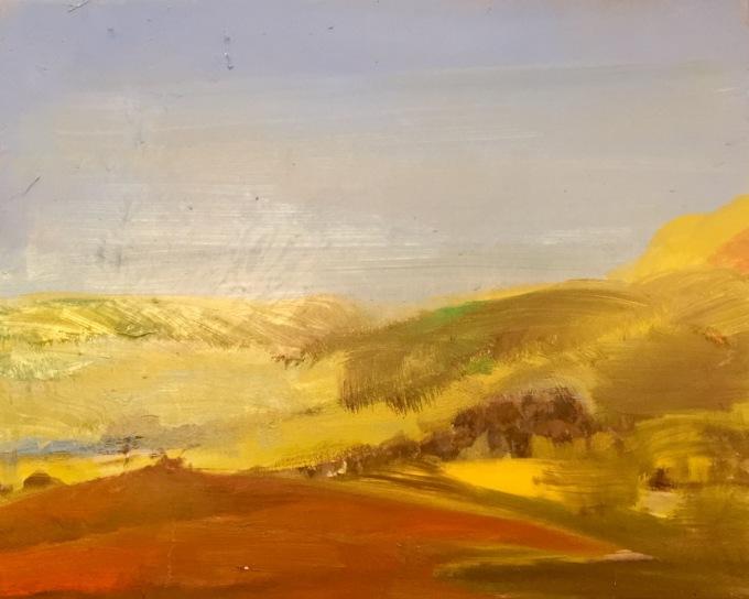 The Long Walk, oil on canvas 50 X 70 cm