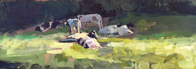 Cattle Warming, SOLD, Royal Institute of Oil Painters Annual Open Exhibition 2016