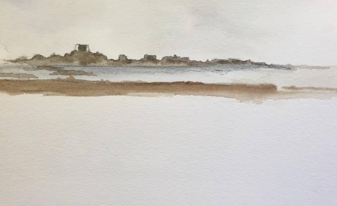 Pontac, Jersey, watercolour, 18x 12cm