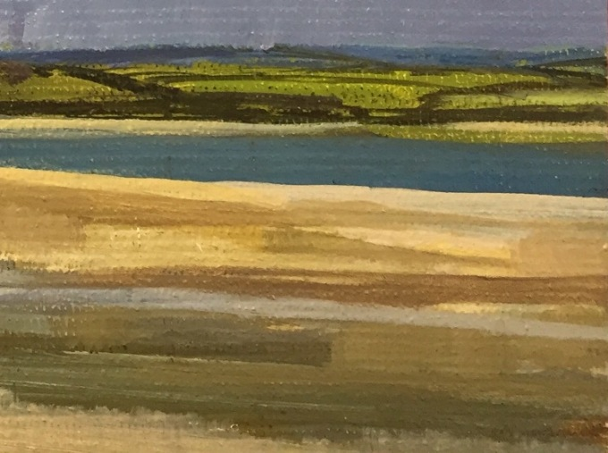 Rock, Cornwall., oil sketch.