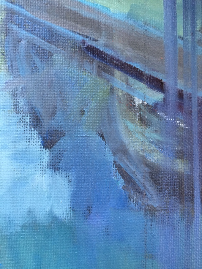Reflected light, oil sketch