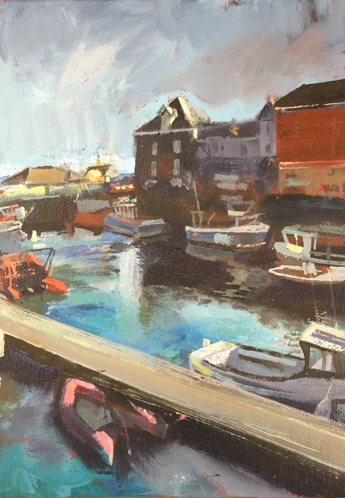 Padstow in Sunshine, 19x14cm