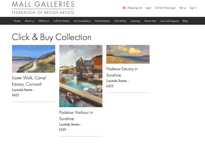 Mall Galleries Click and Buy Collection: Paintings by Lucinda Storm nowavailable.