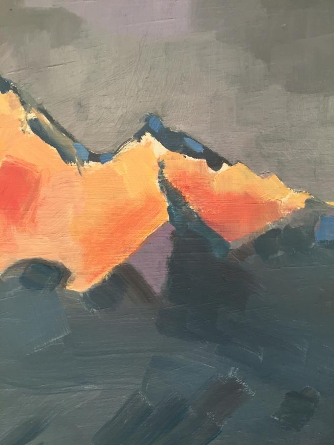 Building Shadow, oil sketch