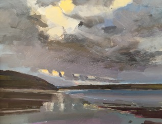 Daymer Bay, Winter Evening, Cornwall, NEAC Annual Open Exhibition  2017,  Mall Galleries, London. SOLD