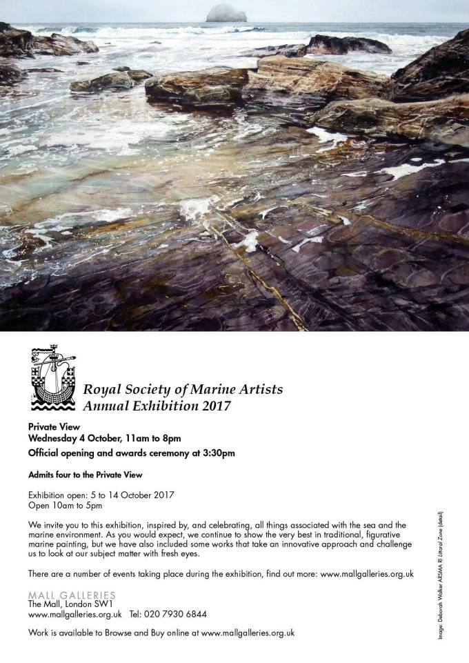 The Royal Society of Marine Painters Annual Open Exhibition Mall Galleries, London 5-14th October, 2017